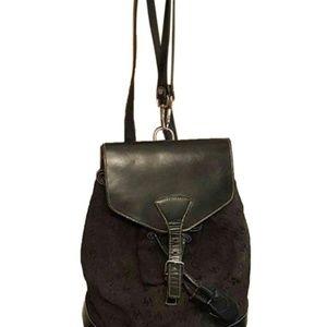 Dooney & Bourke Leather & Logo Canvas Backpack
